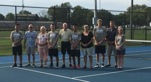 LHS Boys Tennis Celebrates Victory on Senior Night