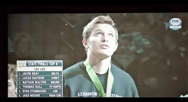 Congratulations LHS Wrestler Evan Stambaugh: 5th in the State!