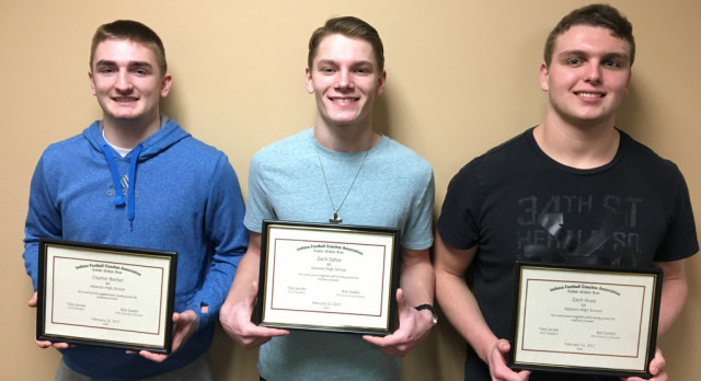 Congratulations Football Players Zach Huse, Zach Dafoe & Clayton Barber: Named IFCA Academic All-State Team
