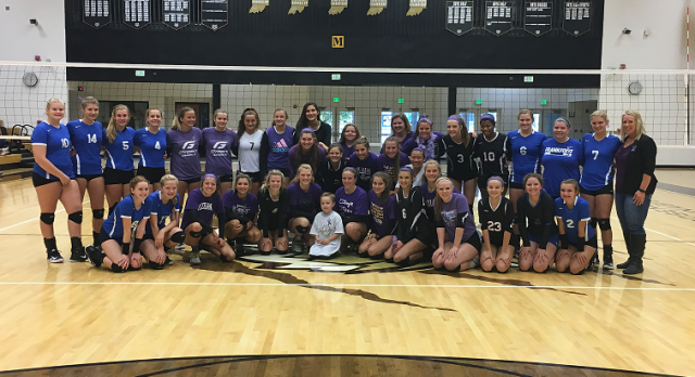 Lebanon & Frankfort Volleyball Team up to battle Cystic Fibrosis with Hudson Heroes.  True Sportsmanship & Team Work!