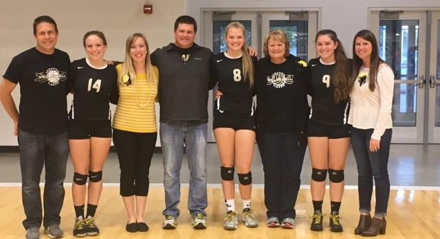 Lady Tigers Varsity Volleyball defeats North Montgomery 3-2 on Senior Night!