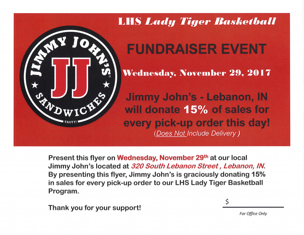 Lady Tiger Basketball Teams host Jimmy John's Fundraiser Nov. 29th ...