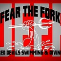 Red Devil Swimming