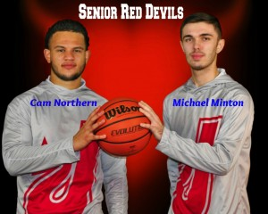 Senior Cam Minton hold ball
