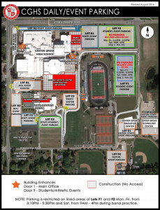 Center Grove HS map for tennis tournament