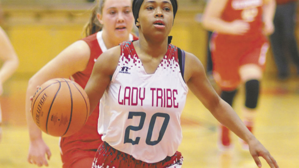 Anderson's Antaria Hammond drives into the paint during the Lady Tribe's win over Richmond.