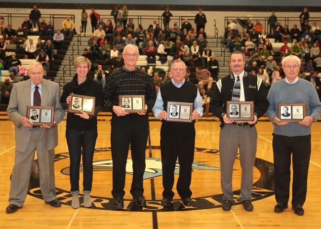 From Left: Peter Boogaart, Kelly Klaasen (on behalf of Larry Klaasen), Rich Schrotenboer, Dick VanderKamp, Mark Warners (in memorium of John Warners), and Ken Zandee.