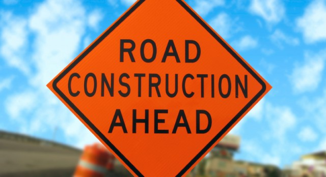 Road Construction on Alger extension