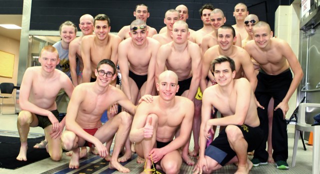 Noblesville High School Boys Varsity Swimming advances relays to IHSAA State Meet