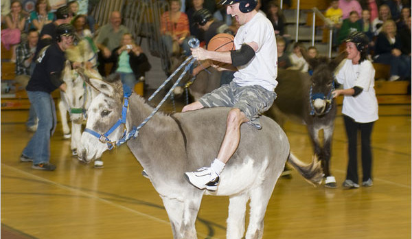 Donkey Basketball at AMIS on February 20th