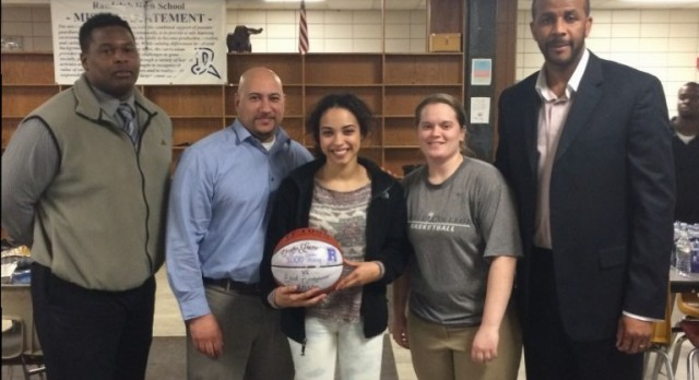 Chayla Louro Honored for scoring 1,000 Points