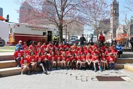 Middle school group BAA relay