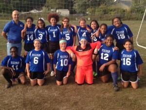MS Girls soccer team 2015