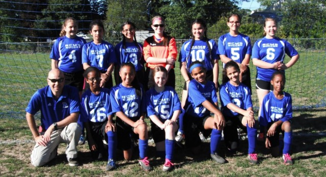 Girls Middle School soccer pick up first win!