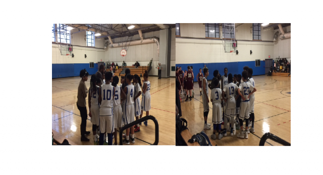 Boys and Girls Middle School Basketball Teams had great games against West Bridgewater