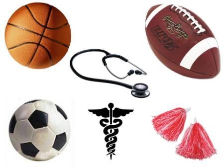 Fall Sports Physical Clearance dates and times.
