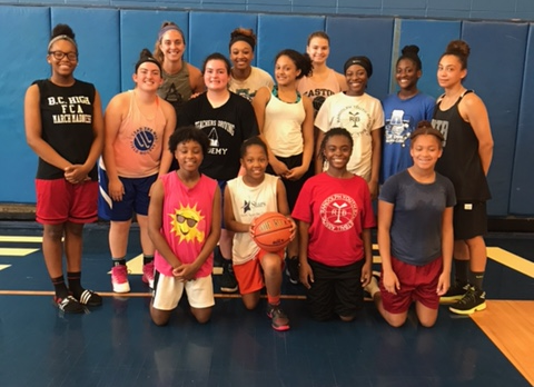 Shout Out to these ladies for their hard work at RHS Girls basketball camp last week!