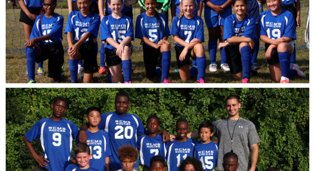 Middle School Boys and Girls Soccer teams working hard this season