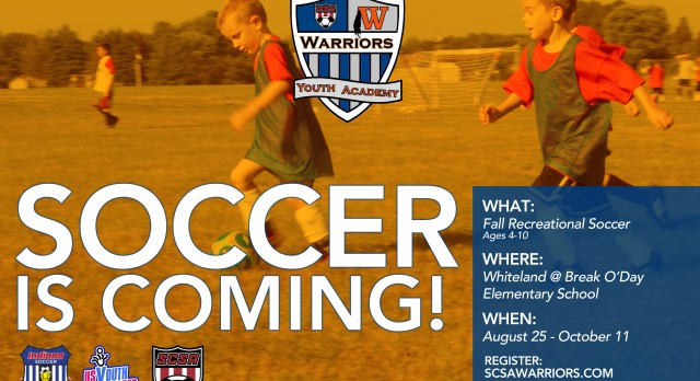 Whiteland Youth Soccer Starting in August