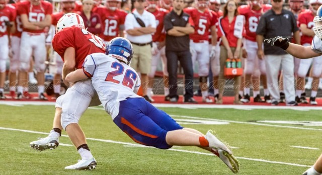Football Team Remains on Top of Conference