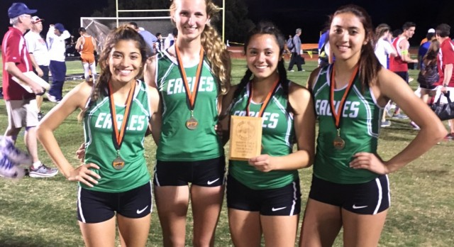 Pleasanton High School Girls Varsity Track finishes 4th place