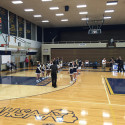 The start of the Boys Varsity Basketball game vs Kalamazoo Loy Norrix