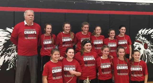 Congrats to our 7th Grade Girls on winning the NBC Championship