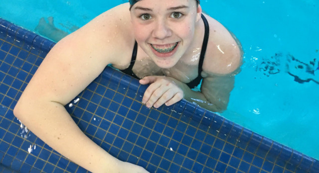 Congrats to Marly Zeigler on qualifying for the District Swim Meet