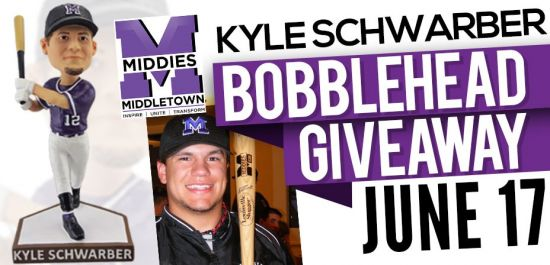 Schwarber Middies' Bobblehead Night This Sat 6/17 @ Florence Freedom Game