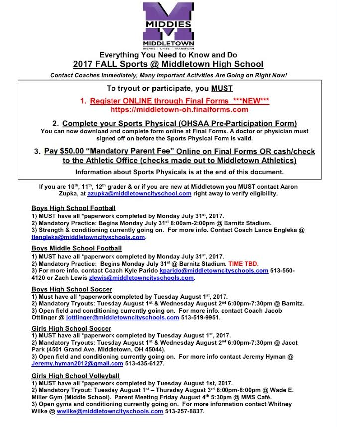 Everything You Need to Know & Do for MHS/MMS Fall Sports 2017 ...