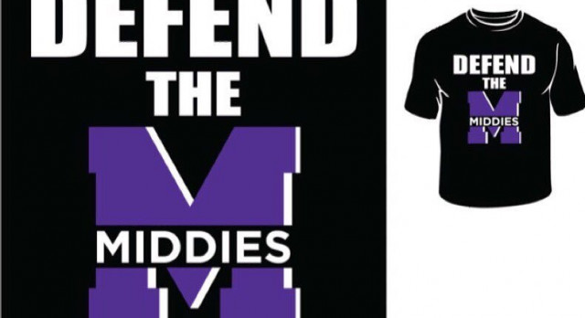 New Middie Student Shirts Now on Sale Online!!!