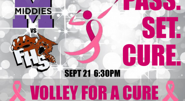 Lady Middies Hosting Volley for a Cure Thurs 9/21 vs. Franklin