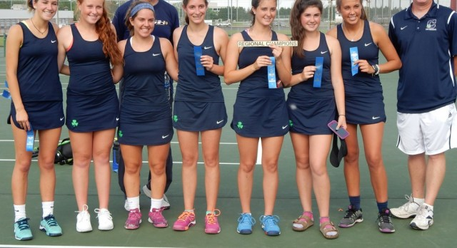 Cathedral High School Girls Varsity Tennis beat Lawrence North High School 4-1