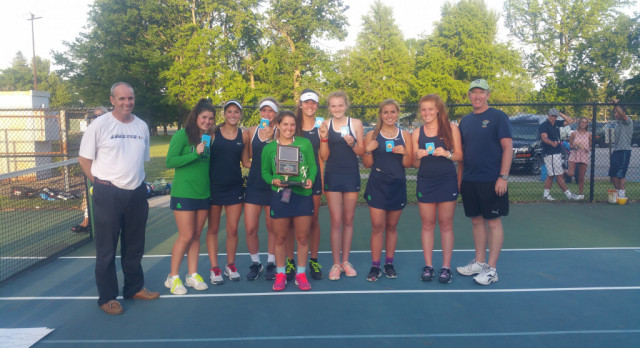 Cathedral High School Girls Varsity Tennis finishes 1st place