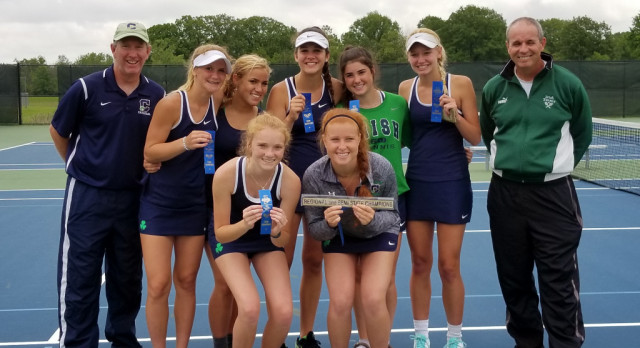 Cathedral High School Girls Varsity Tennis beat Concord High School 5-0