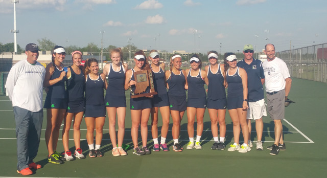 Cathedral High School Girls Varsity Tennis beat North Central High School (Indianapolis)  4-1