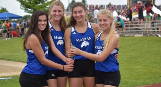 Finally! Here are our 4 x 400 Relay D2 State Champions!!