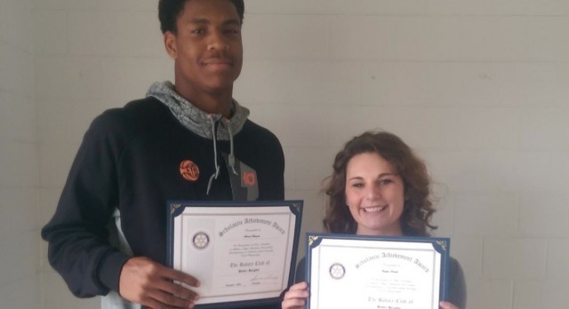 December Rotary Scholar Athletes: Ahmad Wagner & Baylee Houck