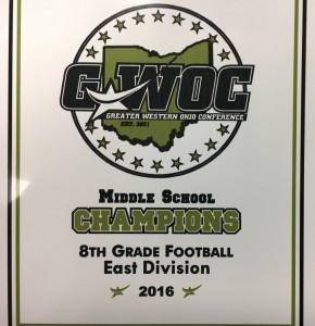 8th Grade Fball GWOC Champs