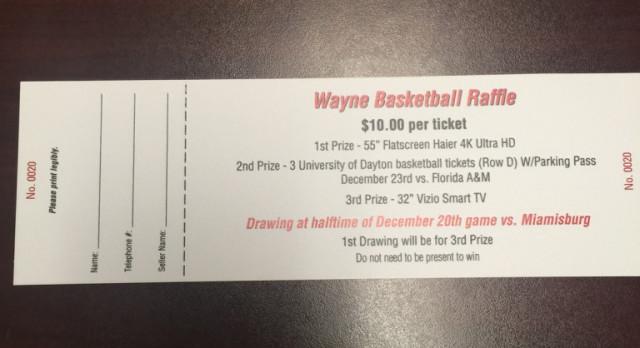 Boys Basketball: Raffle Tickets for SALE