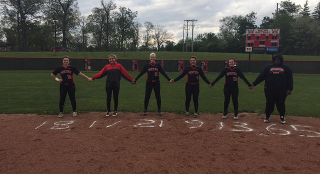 5/2/2017 Lady Warriors Varsity Softball win back to back GWOC games