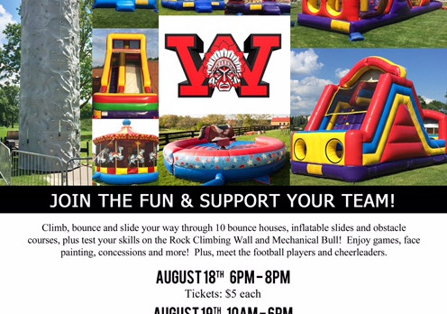 Reminder: Bouncing Back to School Bash (Tonight & Saturday)