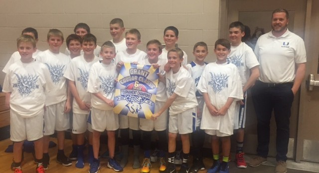 6th Grade Boys Basketball wins Grant Tourney!
