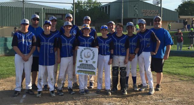 """Jr. High """"A"""" Baseball team 1st place!"""
