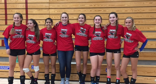 Jr. High Volleyball-Foothill Tournament Champions!