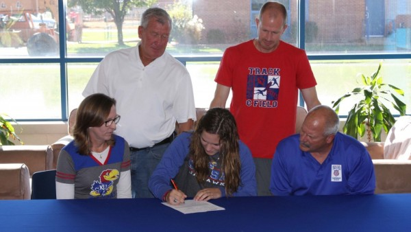 Allie signing