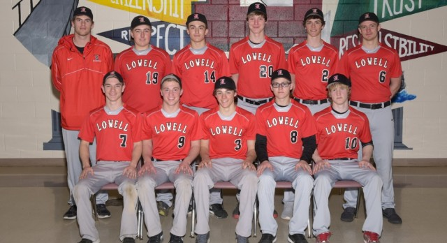 Lowell High School Junior Varsity Baseball beat Caledonia High School 9-7