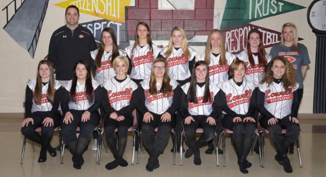 Lowell High School Junior Varsity Softball beat Greenville High School 19-4
