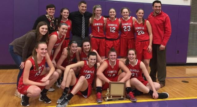 Lowell High School Girls Varsity Basketball beat Greenville High School 43-28
