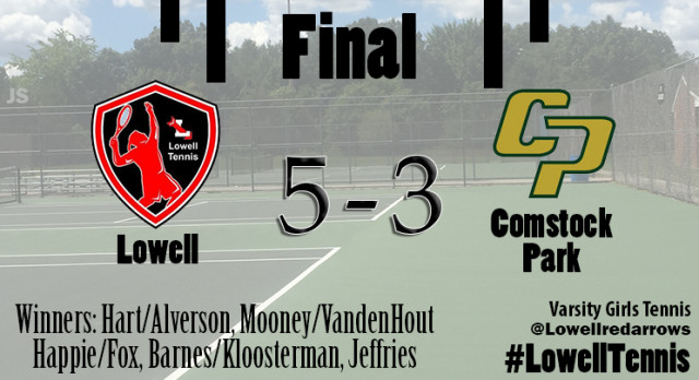 Lowell High School Girls Varsity Tennis beat Comstock Park High School 5-3